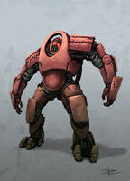 red robot concept by Tyrus88