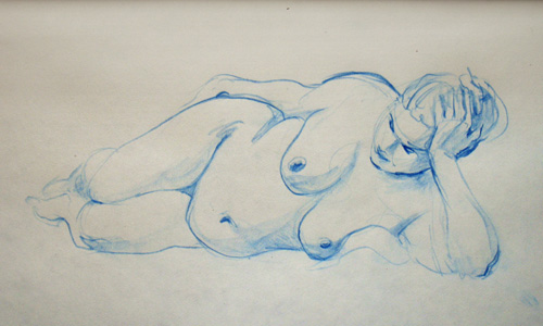 Lifedrawing, woman by Tyrus88