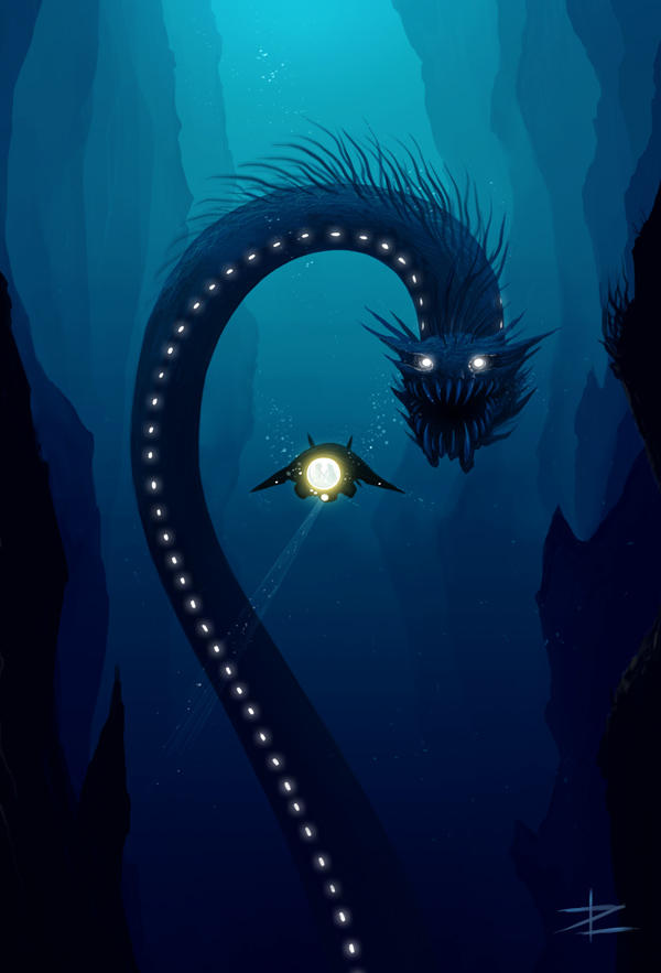 Deep sea by tyrus88 on deviantart for Green monster fishing light