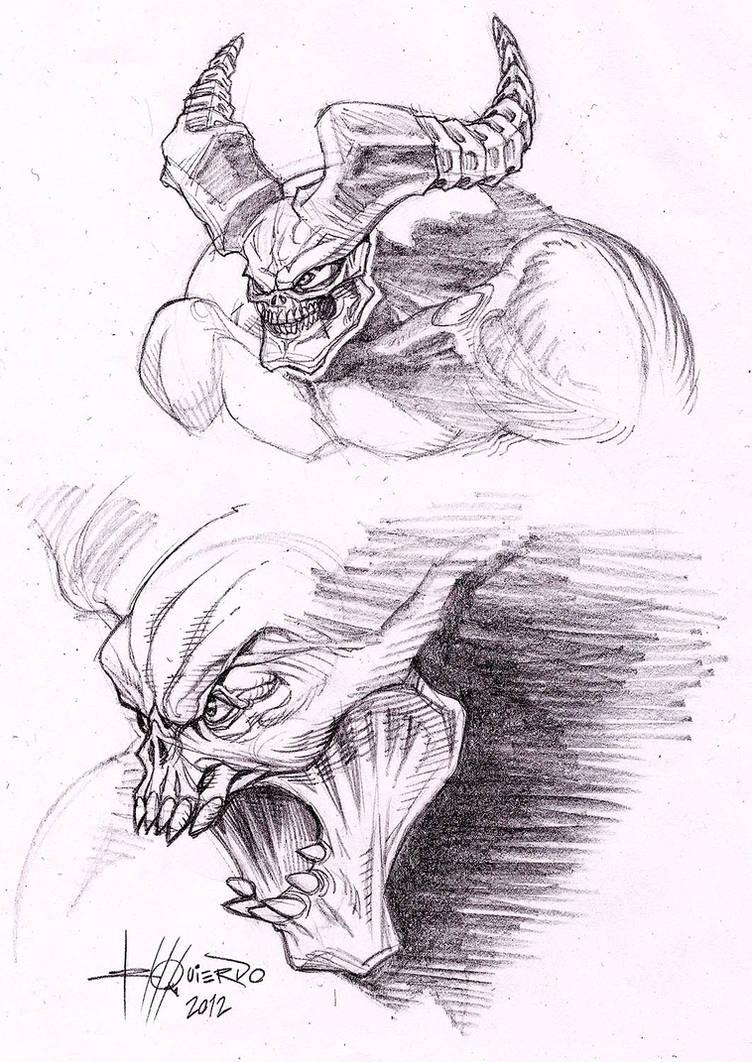 Darksiders 2 - Demons Sketch by GilbertoIzquierdo on DeviantArt