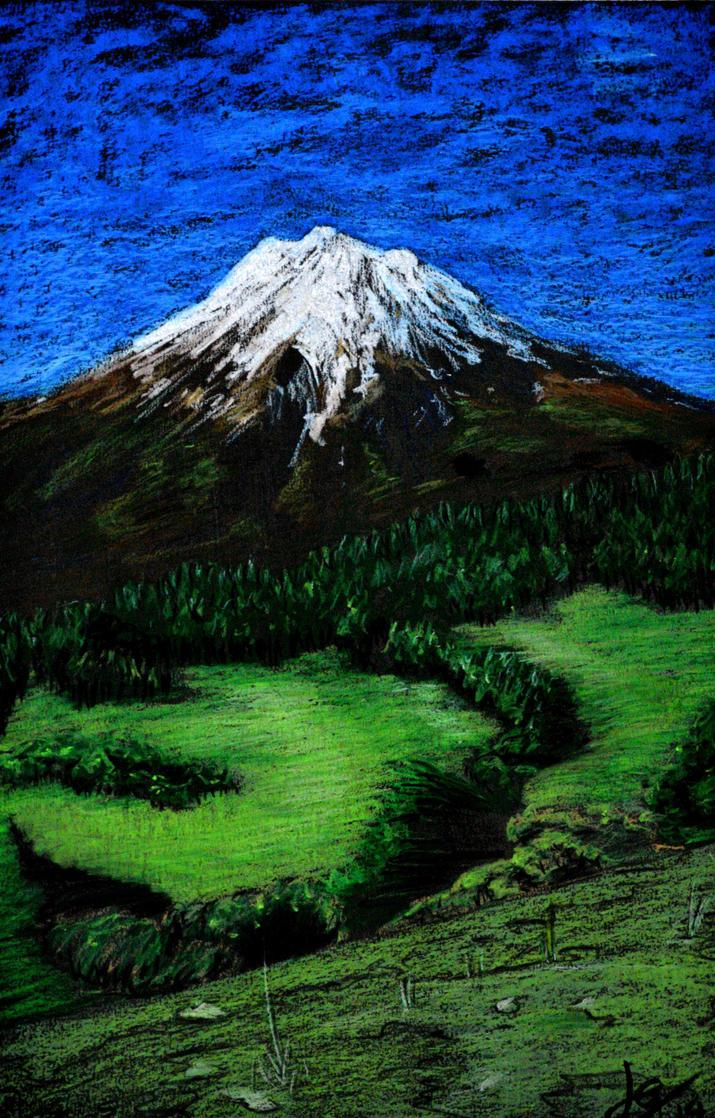 Taranaki Mt. NZ by OokamiLouga