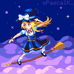Marisa surfing the night sky by PsclKmn