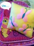 Fluttershy plush mini pillow