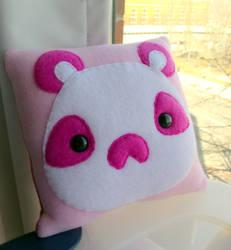 Small Panda Moosh Pillow by CynicalSniper
