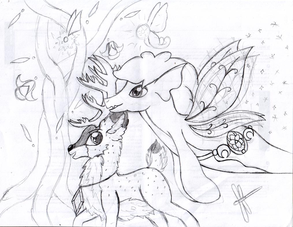Deer meets Fairy by Pokecure123