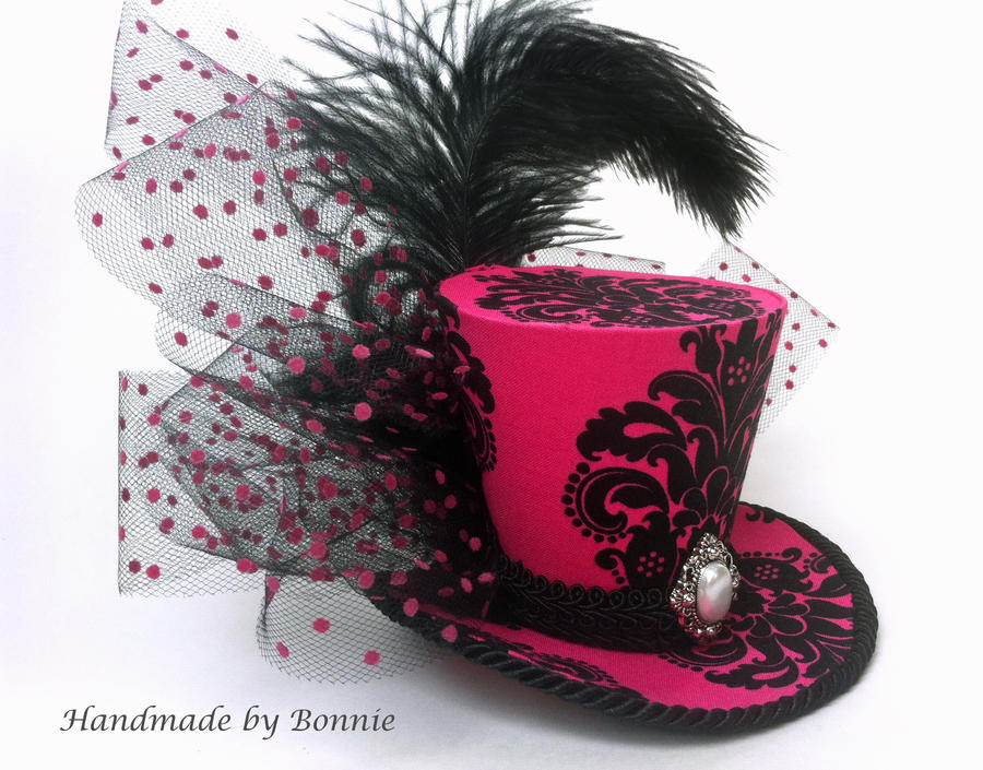 Mini top hat pink by minitophat on deviantart for Tiny top hats for crafts