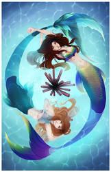 Commission - Mermaids by Jaizure