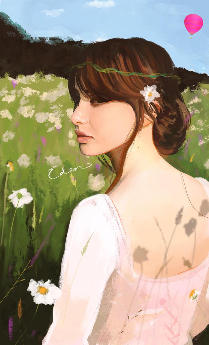Field of flowers by EdensGarbage
