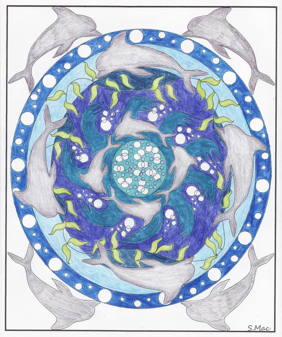 Abstract Dolphin Coloring Pages : Dolphin mandala ii by ingalill on deviantart