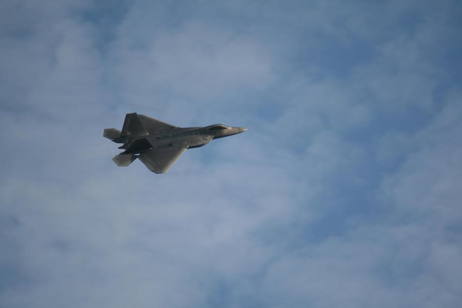 F22 at Airshow RAFB