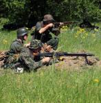 German soldiers reenactment