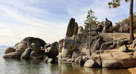 Lake Tahoe Rock Outcrop