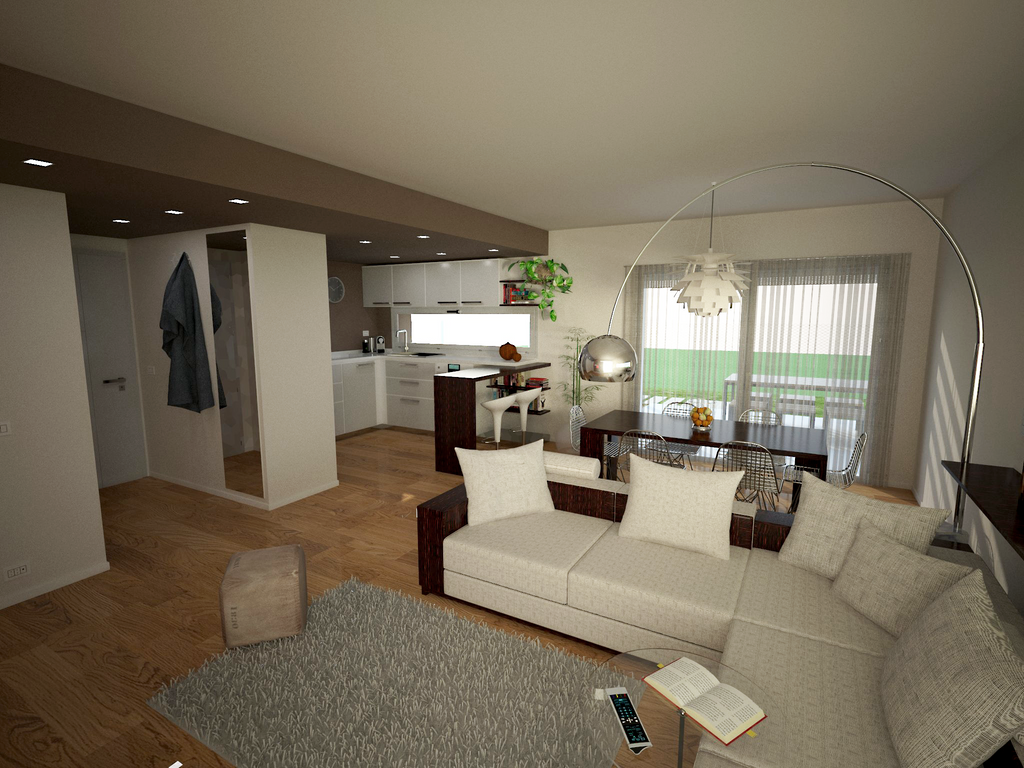 Modern small villa interior 2 by mezzelfo on deviantart for Small villa interior design