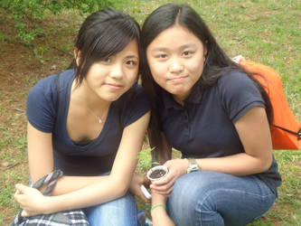 Old picture of me and my friend by JeaZheng