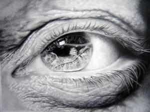 Eye study in pencil 1
