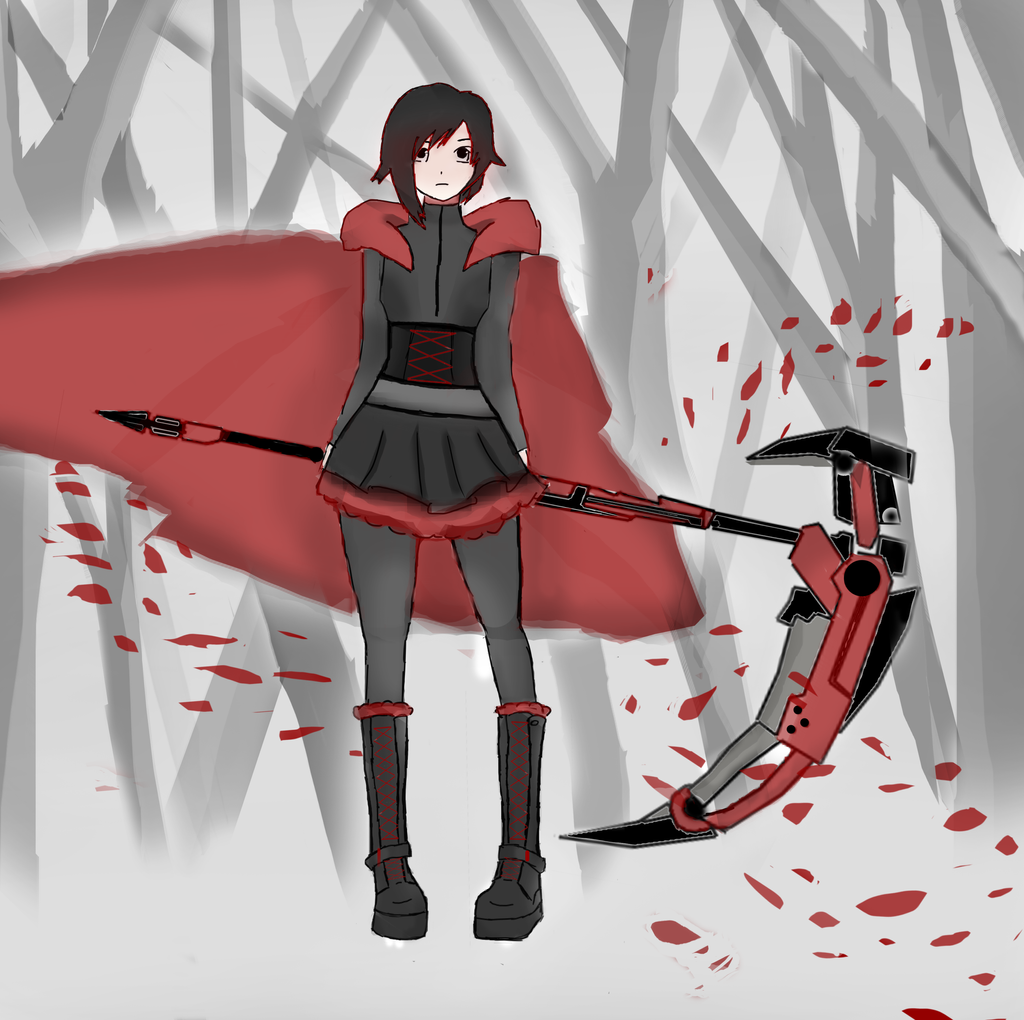 RWBY Ruby Rose by HaxGodJet