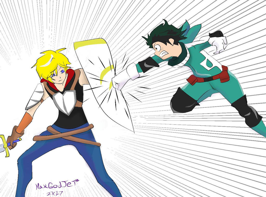 Jaune Arc vs Izuku Midoriya  by HaxGodJet