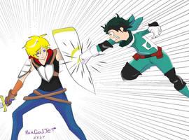 Jaune Arc vs Izuku Midoriya  by HaxGodJet