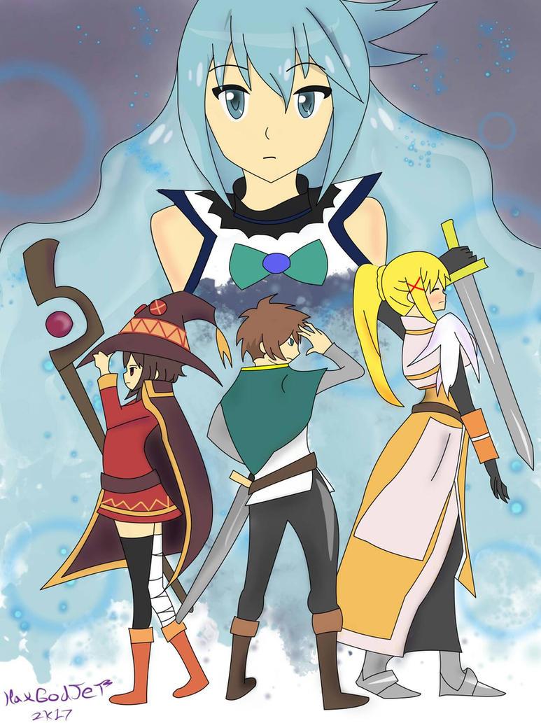 Konosuba team by HaxGodJet