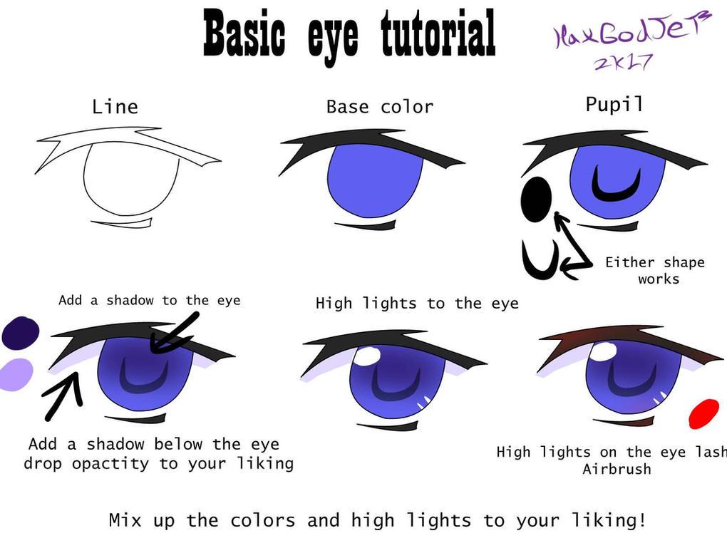 how to make an anime eye