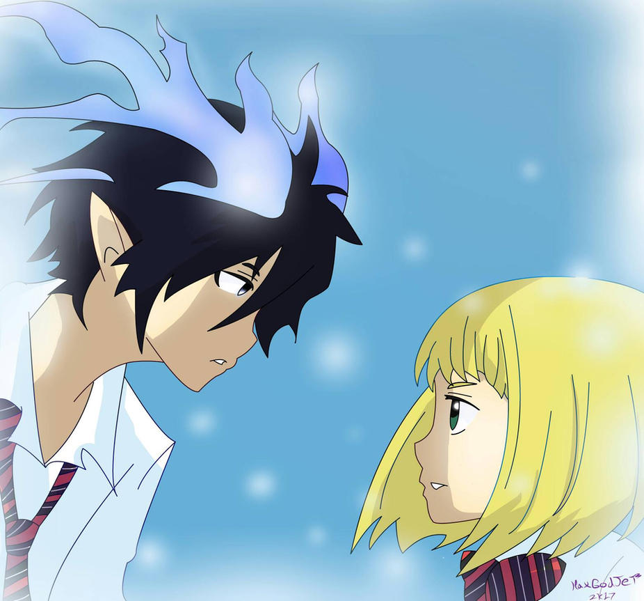 Rin and Shiemi by HaxGodJet