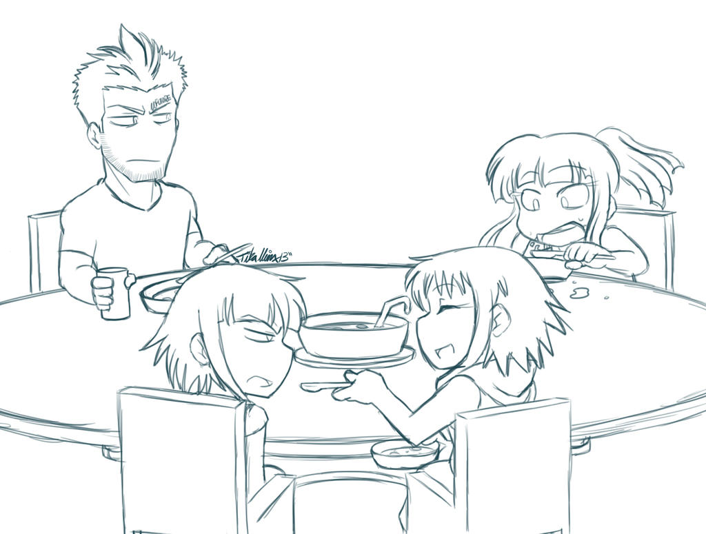 Anti Table Manners By Lancochang On Deviantart Manners Coloring Pages 2