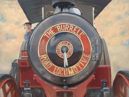 The Burrell Road Locomotive by Pictonart