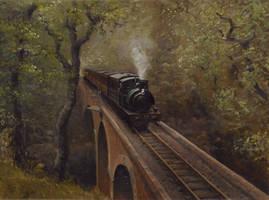 Dolgoch Viaduct by Pictonart