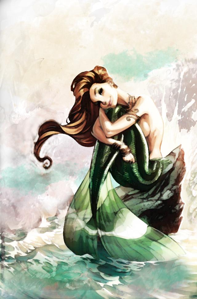 watercolor mermaid by zieann on DeviantArt