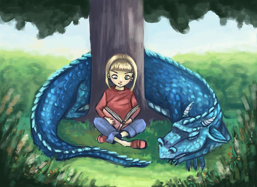 Sleeping dragon by nena211