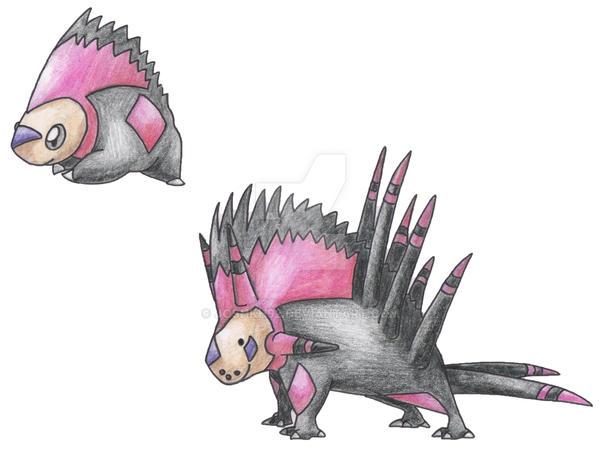 Porcupine Pokemon by JoshKH92