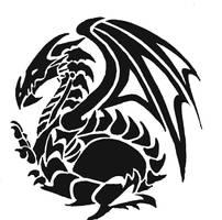 Tribal dragon 1 by mafagafa