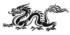 tribal dragon 2 by mafagafa
