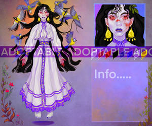 [OPEN] lady vampire Adoptable AUCTION by Siprona