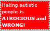 Stop hating autistic people, please?