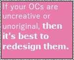 It's best to redesign your OCs.