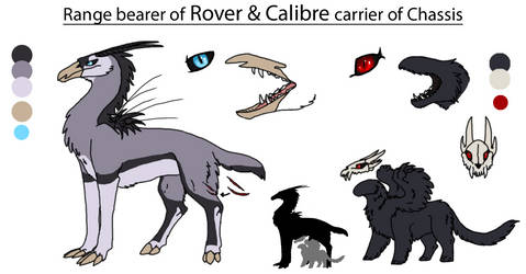 Calibre and Rover ref by astridtjejen