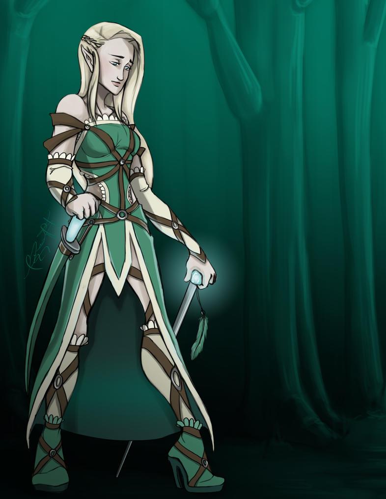 Elven Mage by Corinea