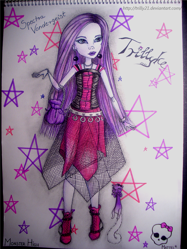 Drawing of my Spectra Vondergeist Doll by Trilly21 on DeviantArt