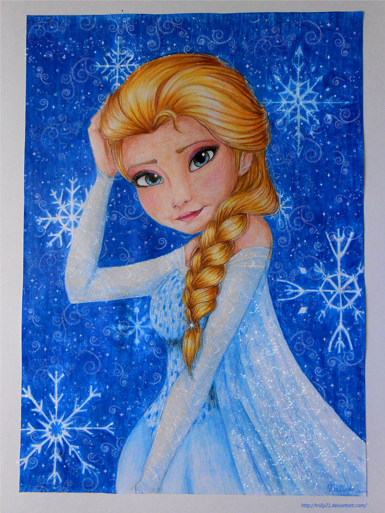 Elsa from Frozen by Trilly21
