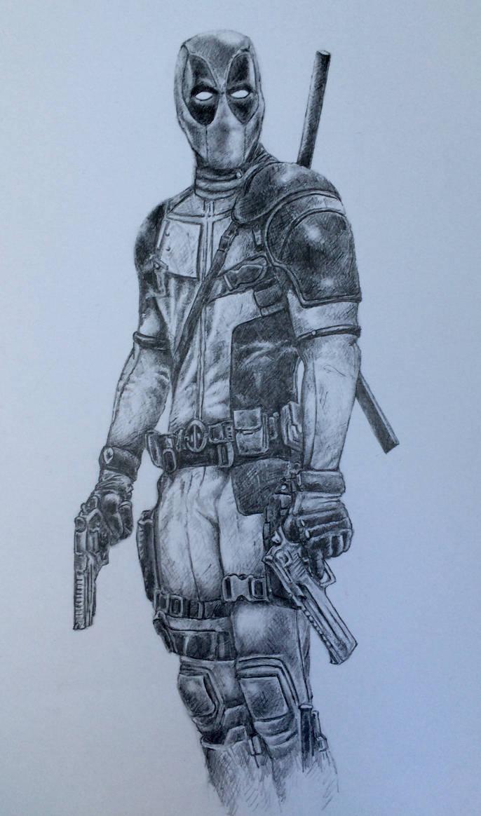 Deadpool pencil drawing by fletchersketch on deviantart
