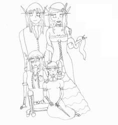 WoW: LineArt - Steampunk Elves by Gou-kun