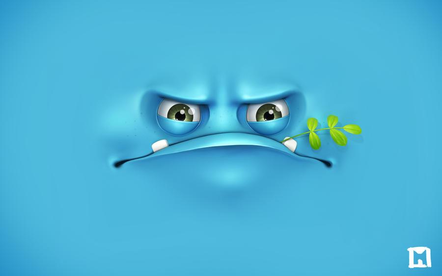 Grumpy wallpaper by Melaamory