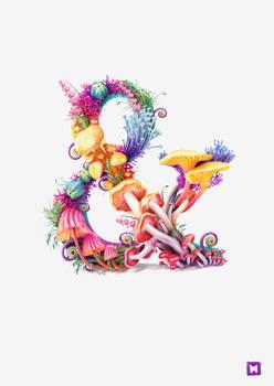 Mushrooms ampersand