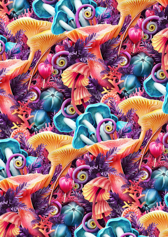 Mushroom pattern by Melaamory