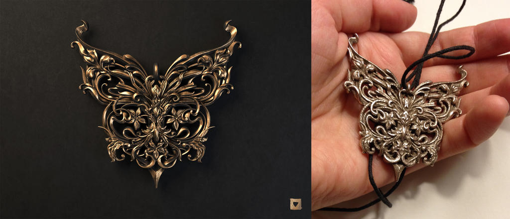 Butterfly pendnt by Melaamory