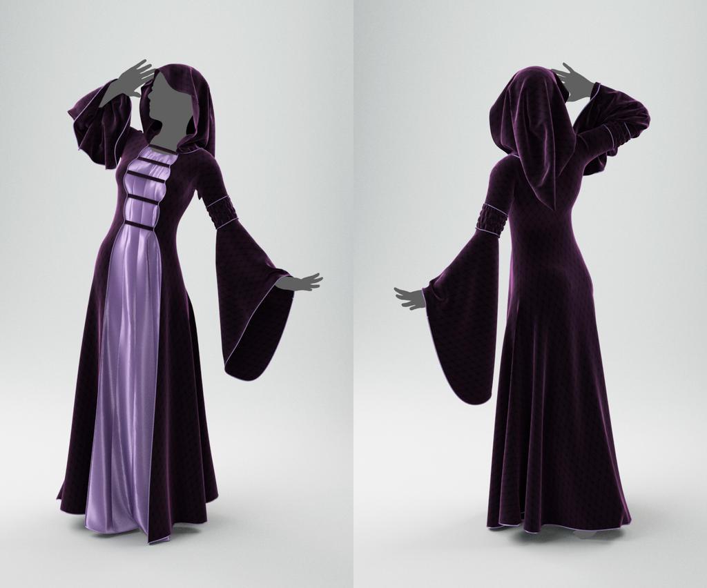 Medieval Dress by Melaamory