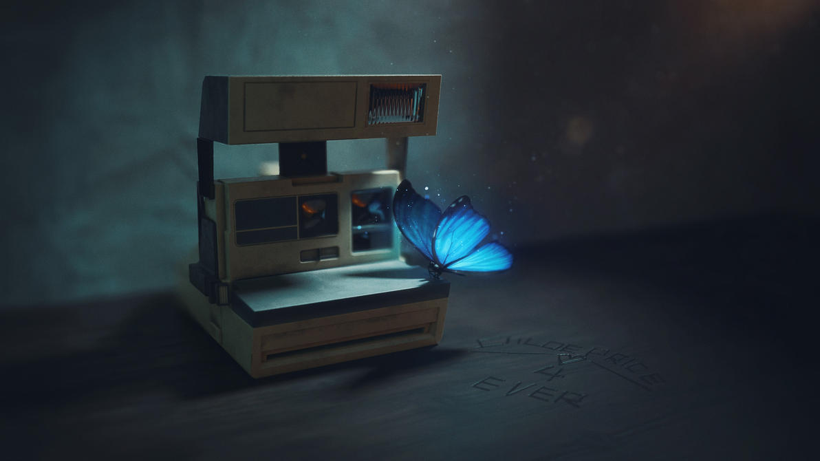 Blue butterfly by Melaamory