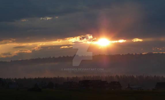 Amazing sunset in Murzasichle