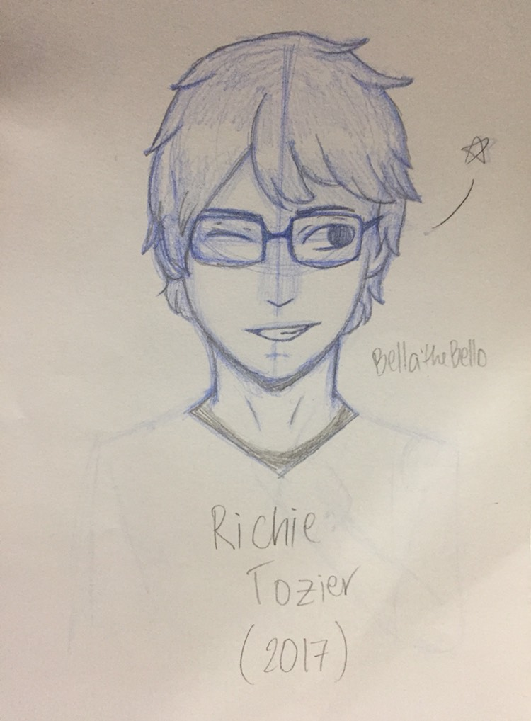 This is a picture of Impertinent Richie Tozier Drawing